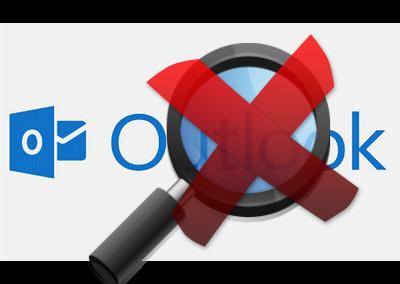 Falla la Opcion de Buscar en Outlook, No Aparecen Correctamente los Resultados