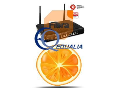 Equalia y Configuracion de Router Draytek para conexión de fibra de Orange (ip pública por DHCP)